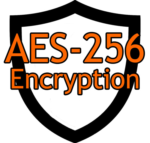 AES-256 Encrypted Data Storage